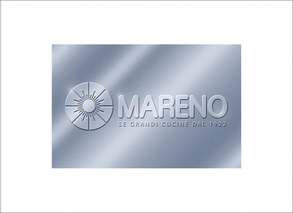Immagine: Marchio Mareno ALI renderizzato a effetto metallico. Rendering per catalogo mobili, studio grafico di Treviso