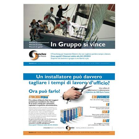 Cliente Synchro, Immagini campagna stampa Synchro Venezia - cliente dell'Agenzia grafica pubblicitaria Holbein & Partners IT.