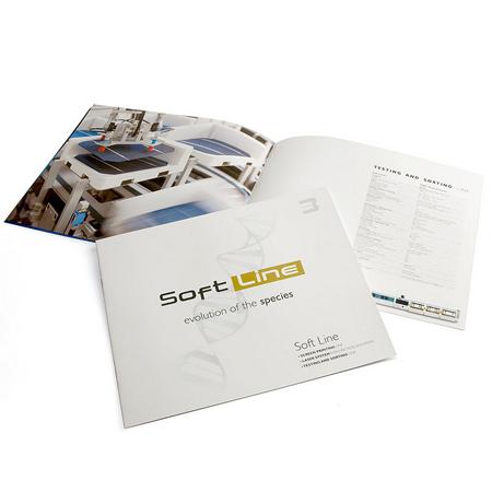 immagine Brochure Softline coordinata all'immagine globale dell'azienda. AD Holbein & Partners: agenzia pubblicitaria in Villorba Treviso