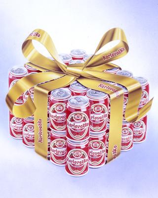 Immagine: birra Karlovacko. grafica 3D Studio pubblicitario Mogliano Veneto H&P