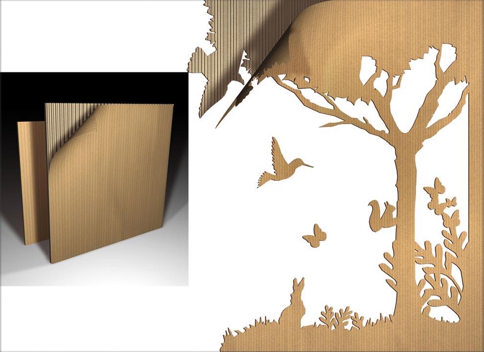 Immagine: rendering di natura su cartone. Modellazione 3D per cataloghi prodotti agenzia di grafica e comunicazione a Venezia Holbein & P.