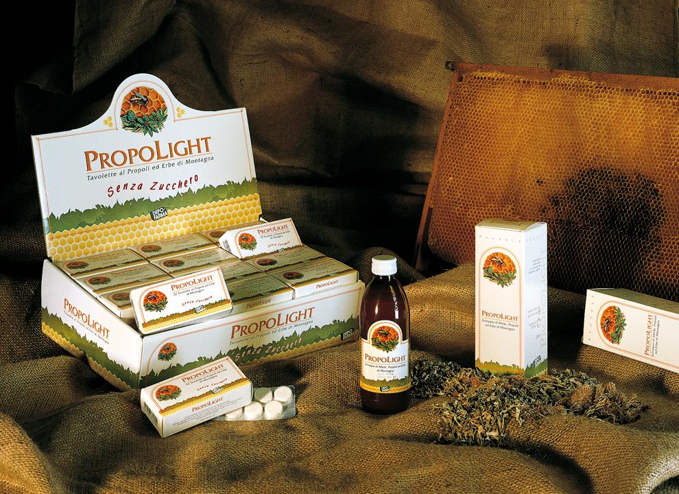Prodotti Propolight / Depofarma, pack coordinato. Art Direction fotografia e illustrazione Carnieletto & Zaffalon H&P.