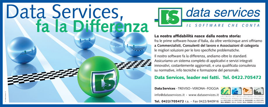 Immagine: advertising data services. Ideazione e realizzazione by Holbein & Partners, tre venezie