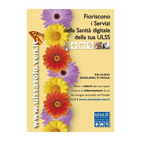 Immagine: manifesto istituzionale ULSS8. Ideazione grafica by H&P Treviso - IT. Studio pubblicitario che realizza poster, cartelli pubblicitari e calendari