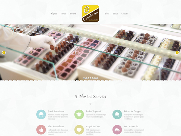 immagine homepage nuovo sito Coccolateria by Holbein & Partners web agency