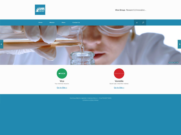 immagine homepage nuovo sito Vice Group by Holbein & Partners web agency