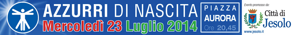 """Banner quotidiano online  per evento """"Azzurri di Nascita 2014"""" a Jesolo"""