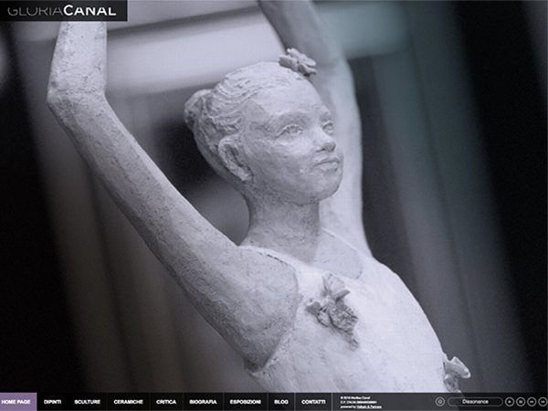 sito web dell'artista Gloria canal