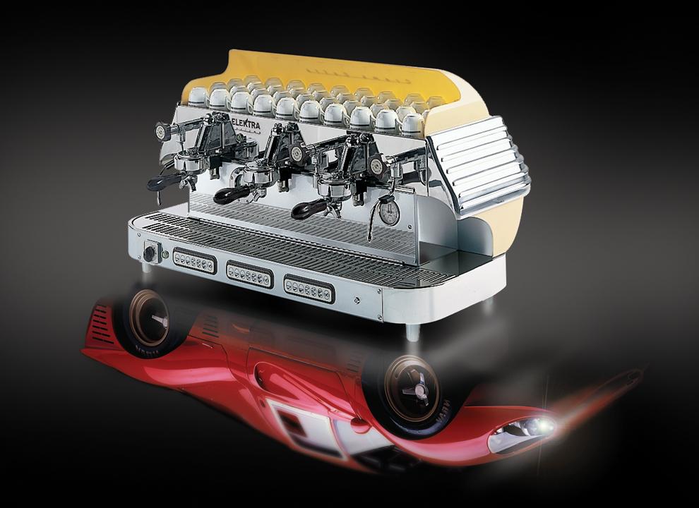 Immagine Rendering 3D macchina da caffè Elektra. Holbein & Partners  studio grafico in provincia di Treviso.