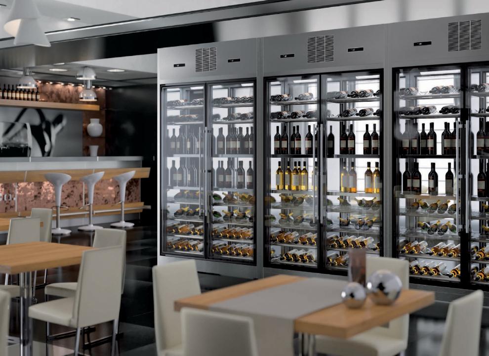 Immagine: Gemm Brera wine library ambientato in un locale. Rendering 3D e Fotoritocco Agenzia grafica H&P di Treviso