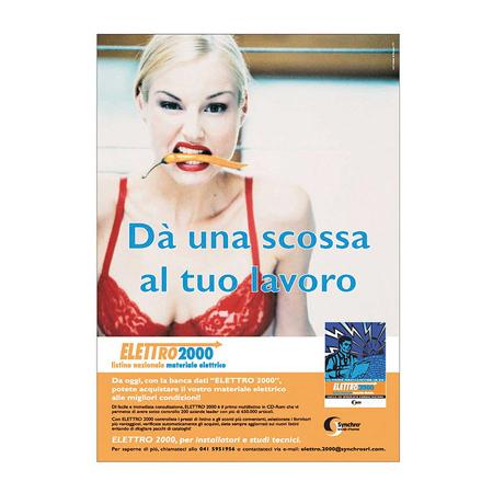 Cliente Synchro, Immagini campagna stampa Synchro Venezia -  Ideazione grafica per pubblicità cartacea: depliant, volantini, brochure.