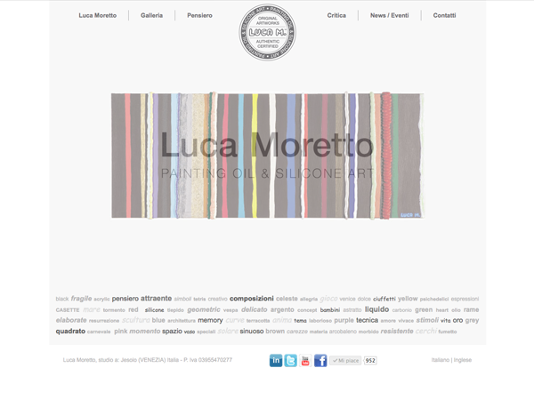 Immagine: sito Web Luca M. Miglior agenzia web, web agency di Treviso, strategie di web marketing e social media