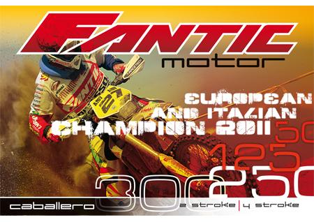 Immagine: advertising Fantic Motor. Realizzazione e allestimento grafica per stand fiera / TV