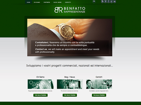immagine homepage nuovo sito Benfatto Rappresentanze by Holbein & Partners web agency