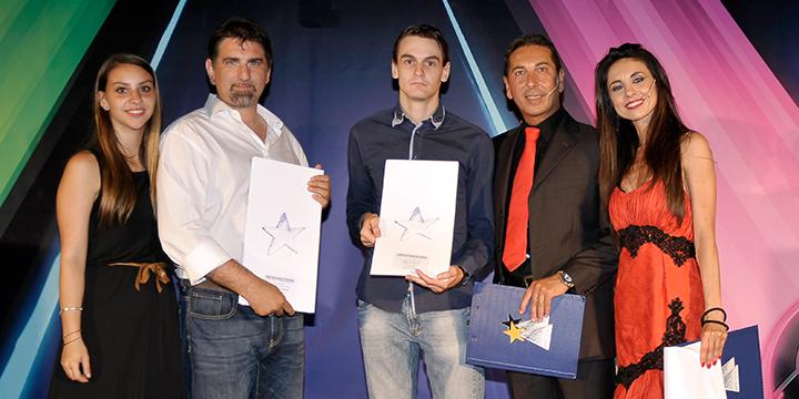 Foto Premiazione Mediastars - Leopoldo Zaffalon / Marco Gobbo