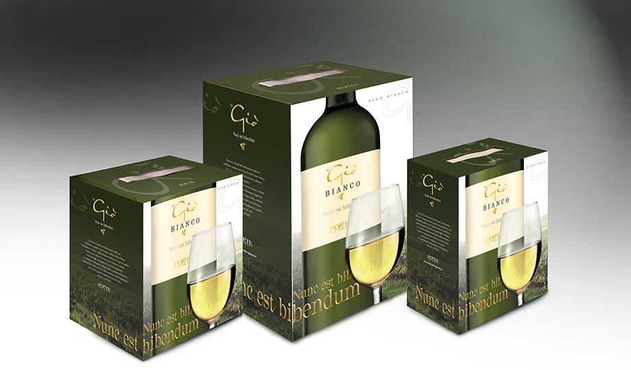 packaging tre formati box vino bianco