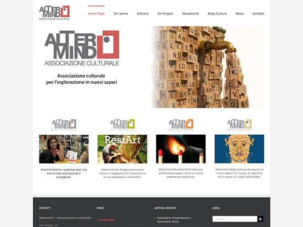 Sito dell'associazione culturale Altermind di Treviso