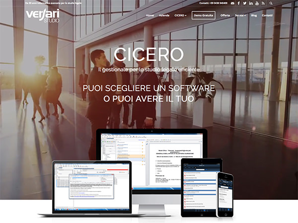 Sito web Versari.it
