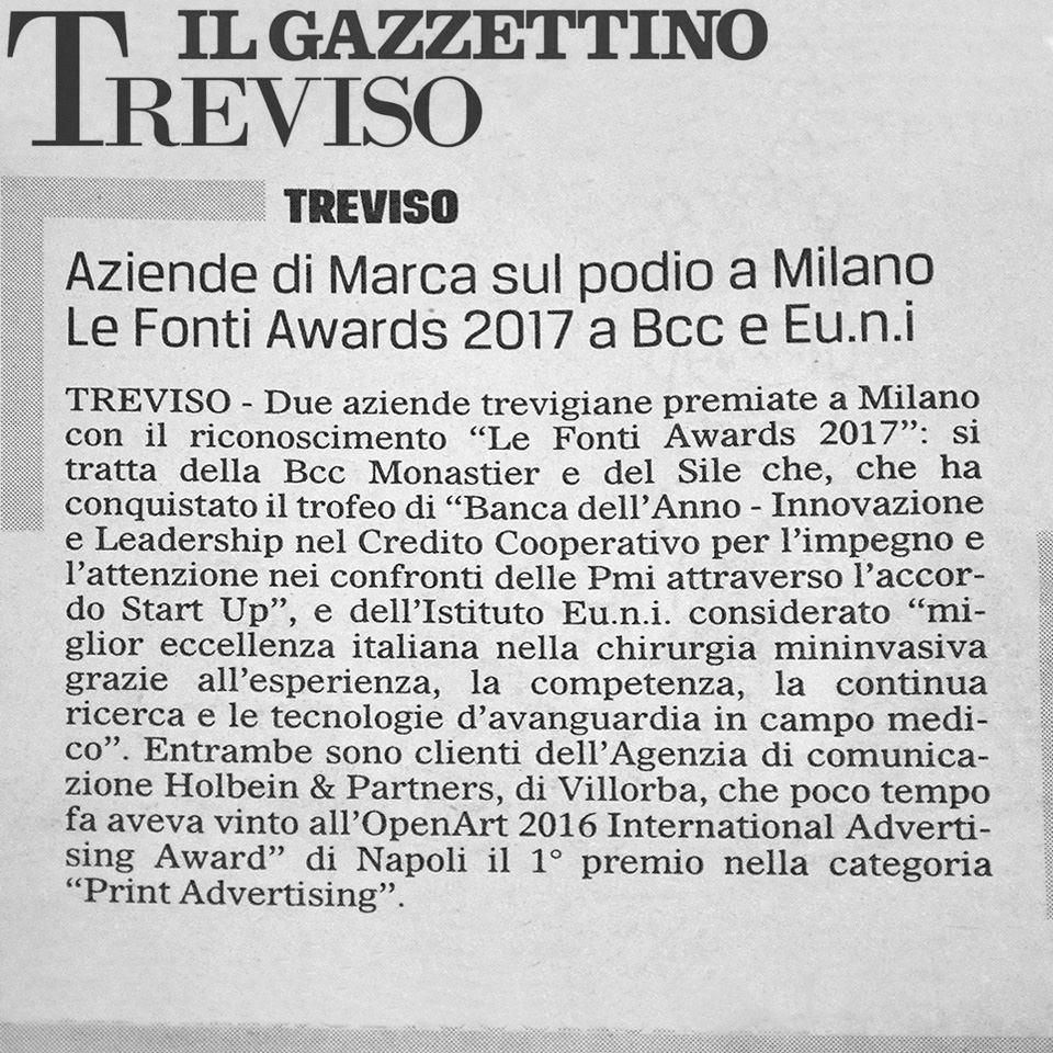 Holbein Aziende Marca podio Milano
