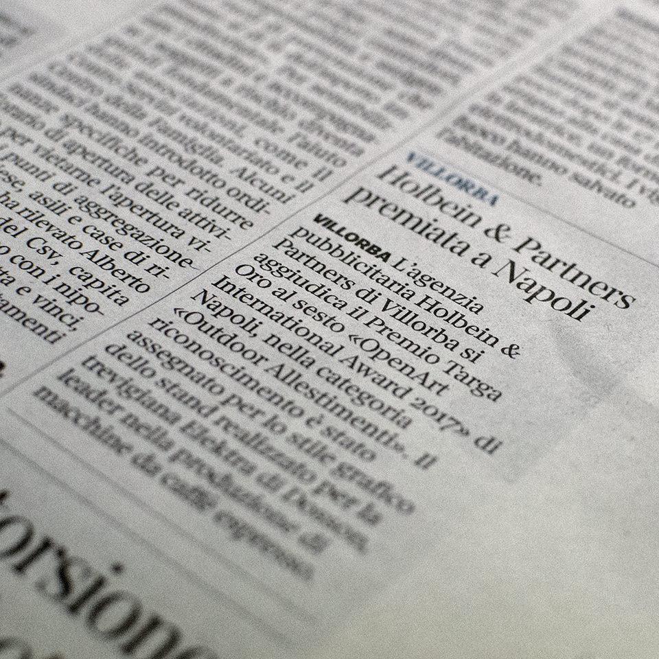 Il Corriere del Veneto scrive di Holbein & Partners