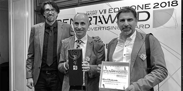 Il Team di Holbein con Federico Donatelli Organizzatore di OpenArtAward di Napoli