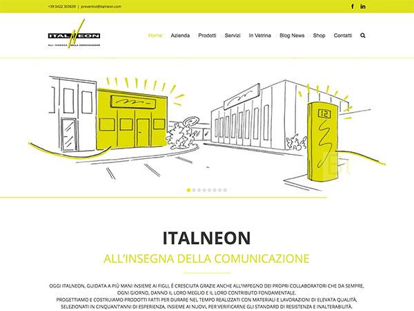 Sito web realizzato dalla Holbein & Partners per Italenon