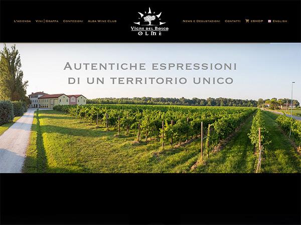 Sito web realizzato dalla Holbein & Partners per Vigne del Bosco Olmè